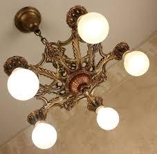 Art Deco Ceiling Light 20s Antique Vintage Victorian Art Deco Ceiling Light