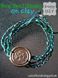 jewelry making with a wax seal stamp clay
