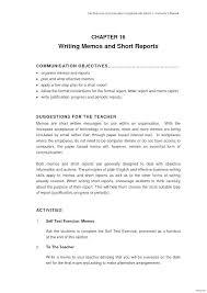 Sample Formal Reports Formal Report Format Template Sample