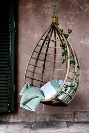 outdoor hanging furniture. Hanging Outdoor Egg Chair With Rattan Material Completed By Pillow Furniture N