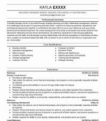 Kitchen Hand Resume Server Waitress And Kitchen Hand Resume Example Natures Own