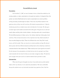 Diary Format Template Journal Ay Examples Entry Article Reflective Learning Essay