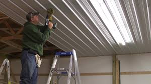 pole barn metal siding. Pole Barn Menard\u0027s Pro-Rib Steel Ceiling Install With PanelLift Drywall Lift - YouTube Metal Siding