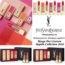 Новая эксклюзивная коллекция <b>YSL</b> Rouge Pur Couture <b>Reptile</b> ...