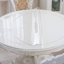 get ations thick circular transpa pvc soft glass round table cloth tablecloth waterproof oil crystal plate plastic tablecloth