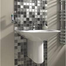 bathroom tiles mosaic. Brilliant Bathroom Wickes Black U0026 Silver Leaf Glass Mosaic  300 X 300mm Inside Bathroom Tiles O