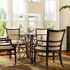 dining room table with chairs on wheels