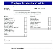 Employee Exit Interview Checklist Employee Termination Form Template Free 417231600037 Employee