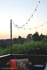 How To Hang Outdoor String Lights Adorable Diy Posts For Hanging Outdoor String Lights House Updated Deck Poles