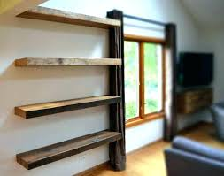 thick wood shelves rustic wall shelf brackets thick wood shelves industrial on rustic wood bookcase distressed thick wood shelves