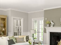 Gray Living Room Ideas - Two-Tone Gray Living Room - Paint Color Schemes