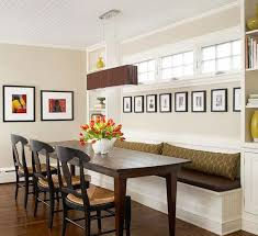 banquette benches dining room