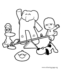 Small Picture For Kids Download Pocoyo Coloring Pages 57 On Seasonal Colouring
