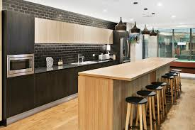 Office Kitchen This Stunning Modern Kitchen Design Is In Polytec Natural Oak And