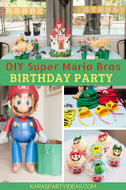 Diy Party Printables Karas Party Ideas Diy Super Mario Bros Birthday Party