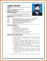 Sample Resume For Teachers Resume For Teachers Curriculum Vitae Format For Job Application 22