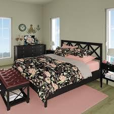 japanese bedding set black and pink