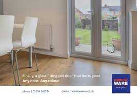 a glass fitting pet door that looks good in all doors any colour double glazing blogger