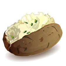 baked potato clip art.  Clip Potato BBQ Vector Isolated White Background And Baked Clip Art S