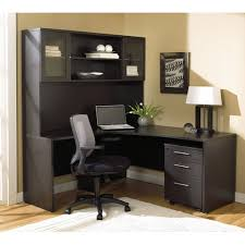 espresso office desk. plain espresso modern espresso lshaped desk with hutch u0026 mobile pedestal intended office n