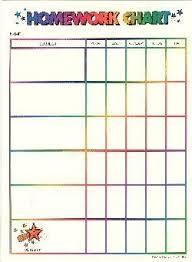 Weekly Homework Assignment Sheet Homework Chart