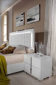 San Francisco Bedroom Furniture Italian 5 Pcs Bedroom Set Glossy White Or Grey Modern