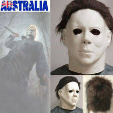 Michael Myers Mask Latex Full Head Halloween Deluxe Adult Size Fancy Dress  Mask