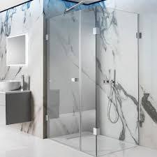 simpsons zion 10mm hinged shower door inline panel optional side panel