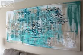 how to make large canvas diy wall art