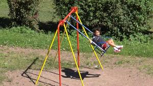 kids on swing at outdoor park hanging seat lullaby you