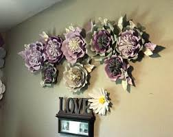 set of 8 giant paper wall flowers backdrop in lavender grey and gold party flowers wall flowers wall art  on pink and gold flower wall art with 3d wall flower etsy
