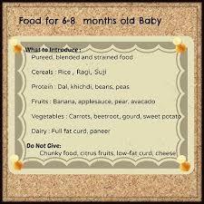 Baby Food Chart After 8 Months Indian Baby Food Chart Infant Feeding Guidelines Chart 0