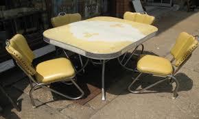 Antique Metal Kitchen Table Vintage Metal Kitchen Table And Chair Unique Vintage Metal