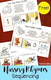 Free Nursery Rhymes Sequencing Printables | Totschooling - Toddler ...