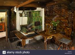 Wohnzimmer Mit Einem Kachelofen Im Markus Wasmeier Bauernhof