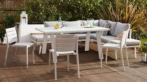 whit trestle outdoor table 6 seater white outdoor table study garden furniture