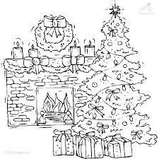 14 Fireplace Drawing Christmas Tree Fireplace For Free Download On