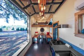 custom designed by tiny heirloom the home features some high end touches that further propel it to the heights of tiny house design