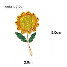 <b>CINDY XIANG</b> Summer Style Sunflower Brooches for Women ...