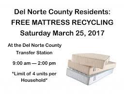 mattress recycling. Mattress Recycling Event