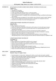 computer support technician resume computer support technician resume samples velvet jobs