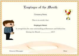 Free Employee Of The Month Certificate Template Amazing Elegant And Funny Employee Of The Month Certificate Templates Free