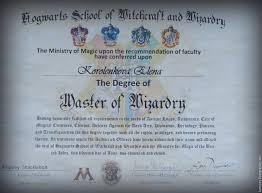 Именной диплом об окончании школы Хогвартс купить в интернет  Именной диплом об окончании школы Хогвартс expecto patronum