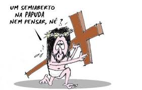 Resultado de imagem para CHARGE JESUS CRUZ