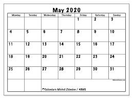 Calendar May 2020 May 2020 Calendar 48ms Michel Zbinden En