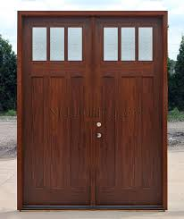 residential front doors craftsman. Craftsman Double Doors AC608 With Rain Glass Residential Front