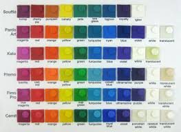Cernit Color Chart Pin On Polymer Mixed Colors