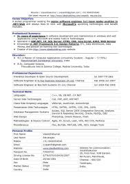 Pattern Resume Format For Freshers Software Program Engineers