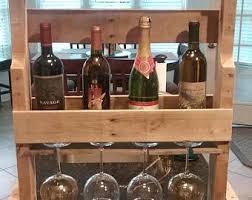 standing wine rack. Standing Wine And Glass Rack N