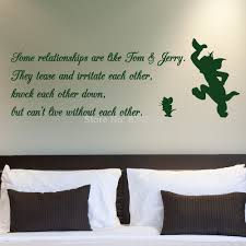 Tom And Jerry Relationship Quote Wall Art Stickers Decal Home DIY  Decoration Wall Mural Removable Bedroom Decor Wall Stickers|stickers  style|sticker buyerstickers bull - AliExpress